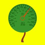 Car speedometer as the tree crown Stock Photos