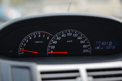 Car speedometer Close up on a car speedometer Stock Photography