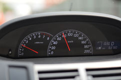 Car speedometer Close up on a car speedometer Stock Images
