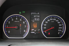 Car speedometer. Close-up macro speed Stock Photography
