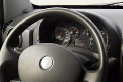 Car speedometer closeup detail. Darken Stock Photo