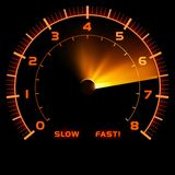 Car Speedometer. Colored Illustration, Vector Royalty Free Stock Photos