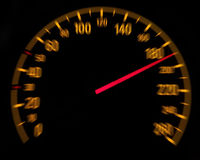 Car speedometer and counter - Speed concept Stock Photo