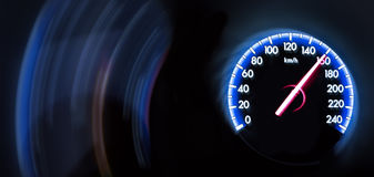 Car Speedometer on dark background Royalty Free Stock Photo