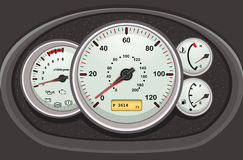Car speedometer and dashboard Royalty Free Stock Photography