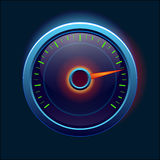 Car speedometer and dashboard. Icon Royalty Free Stock Images