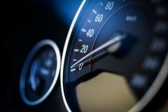 Car speedometer detail Stock Photo