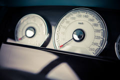 Car speedometer detail Stock Photos