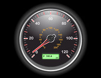 Car speedometer dial. Car speedometer gauge at night. Vector illustration saved as EPS AI8 is now pending inspection Stock Photos
