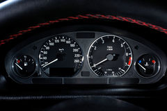 Car speedometer panel Stock Photography