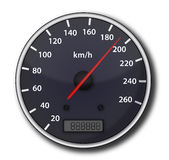 Car speedometer. With red arrow Royalty Free Stock Images