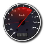 Car speedometer. With red arrow with acceleration effect Stock Image