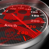 Car speedometer and red skull Royalty Free Stock Images