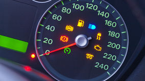 Car Speedometer Symbols Stock Photography