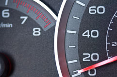 Car speedometer and tachometer Stock Image