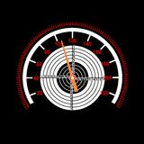 Car speedometer with a target in the middle. The Car speedometer with a target in the middle Royalty Free Stock Photos