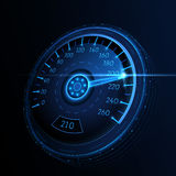 Car speedometer. Vector techo background. Royalty Free Stock Images
