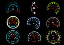 Car speedometers Stock Images