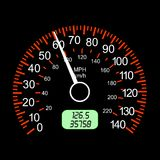 Car speedometers for racing design. Royalty Free Stock Photography