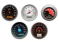 Car speedometers set Royalty Free Stock Photography