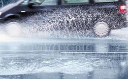 Car splashes Stock Photo