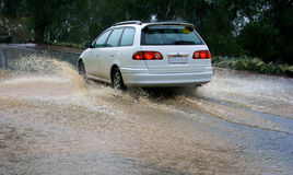 Car Splashing Royalty Free Stock Image