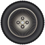 Car spoke wheel Stock Image