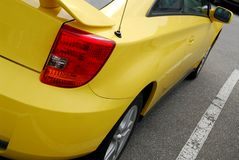 car sports yellow Στοκ φωτογραφία με δικαίωμα ελεύθερης χρήσης