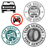 Car stamp set Stock Photography