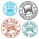 Car stamp set Royalty Free Stock Photos