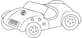 Car with stars coloring page Stock Photography