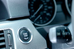 Car Start Button Stock Photo