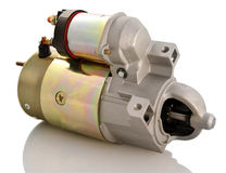 Car starter. Automotive starter motor and selenoid Royalty Free Stock Images