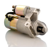 Car starter. Automotive starter motor and selenoid Royalty Free Stock Photo