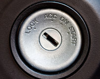 Car starting swtich key hole Stock Photography