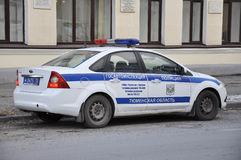 The car of the State traffic inspectorate of the Tyumen region s Stock Photos