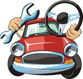Car steering fix Royalty Free Stock Images