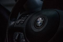 Car steering wheel Stock Image