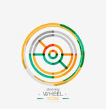 Car steering wheel icon Royalty Free Stock Photography