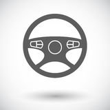 Car Steering Wheel icon. Royalty Free Stock Photography
