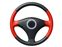 Car Steering wheel. Isolated on white background Royalty Free Stock Photos