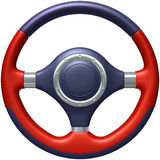 Car steering wheel. Isolated on the white background Royalty Free Stock Photo