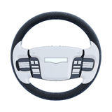 Car steering wheel isolated on white background. 3d rendering Stock Photo