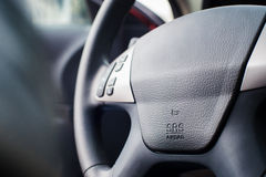 Car Steering Wheel with shallow depth of field Stock Photography