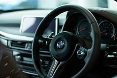 Car, Steering Wheel, Steering Part, Personal Luxury Car Stock Photo