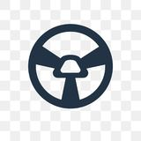 Car Steering Wheel vector icon isolated on transparent background, Car Steering Wheel transparency concept can be used web and m. Obile vector illustration