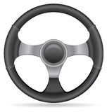 Car steering wheel vector illustration Royalty Free Stock Image