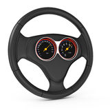 Car steering wheell with dashboard Royalty Free Stock Photo