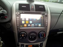 Car stereo. Android car stereo stock images