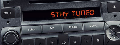 Car stereo message Royalty Free Stock Photo